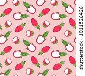 vector soft pink seamless... | Shutterstock .eps vector #1011526426