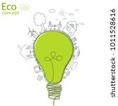 light bulb idea  creative... | Shutterstock .eps vector #1011528616