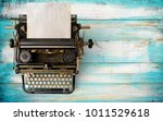 Vintage Typewriter Header With...