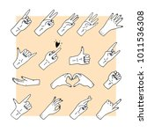 set of hand drawn gestures   Shutterstock .eps vector #1011536308