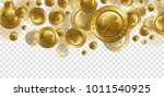 falling realistic gold coins... | Shutterstock .eps vector #1011540925