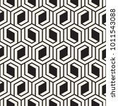 vector seamless lattice pattern.... | Shutterstock .eps vector #1011543088