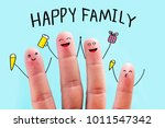 four fingers are decorated to... | Shutterstock . vector #1011547342