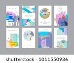 set of creative universal... | Shutterstock . vector #1011550936