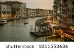 grand canal with gondolas at...