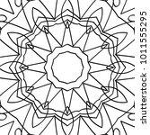 vector zentangle. black and... | Shutterstock .eps vector #1011555295