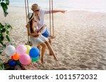 couple lover enjoy honeymoon... | Shutterstock . vector #1011572032