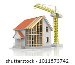 house 3d rendering illustration ... | Shutterstock . vector #1011573742