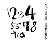 vector fonts   handwritten... | Shutterstock .eps vector #1011574615