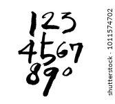 vector fonts   handwritten... | Shutterstock .eps vector #1011574702