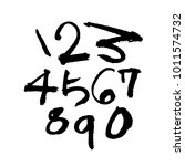 vector fonts   handwritten... | Shutterstock .eps vector #1011574732