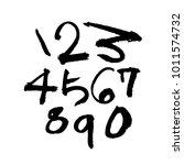 vector fonts   handwritten... | Shutterstock .eps vector #1011574732