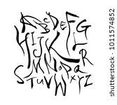 vector fonts   handwritten... | Shutterstock .eps vector #1011574852