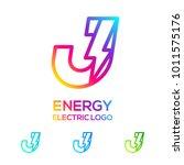 letter j line monogram colorful ... | Shutterstock .eps vector #1011575176
