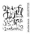 vector fonts   handwritten... | Shutterstock .eps vector #1011575725