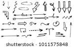 hand drawn doodle vector arrows. | Shutterstock .eps vector #1011575848