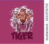 tiger vector tshirt | Shutterstock .eps vector #1011576715