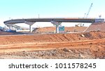a massive highway overpass... | Shutterstock . vector #1011578245