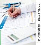 financial review concept | Shutterstock . vector #1011578722