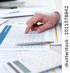 financial report concept | Shutterstock . vector #1011578842