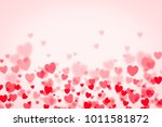 valentine's day background with ... | Shutterstock . vector #1011581872