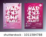 valentines day party flyer... | Shutterstock .eps vector #1011584788