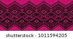 ikat geometric folklore... | Shutterstock .eps vector #1011594205