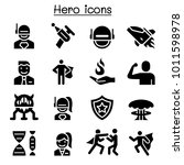 hero icon set  | Shutterstock .eps vector #1011598978