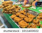 chicken fried street food for... | Shutterstock . vector #1011603022