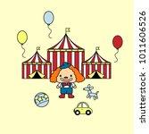 festive circus tent clown... | Shutterstock .eps vector #1011606526