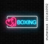 glowing neon boxing club sign... | Shutterstock .eps vector #1011610552