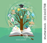 education  tree of knowledge... | Shutterstock .eps vector #1011610708