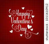 valentines day background... | Shutterstock .eps vector #1011610912