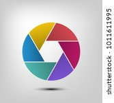 camera shutter icon  aperture... | Shutterstock .eps vector #1011611995