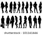 drawing beautiful girl in dress | Shutterstock . vector #101161666