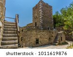a tower in mani in greece. the... | Shutterstock . vector #1011619876
