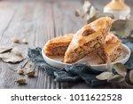 traditional arabic dessert...   Shutterstock . vector #1011622528