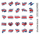 costa rica flag  vector... | Shutterstock .eps vector #1011624985
