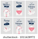 valentine's day card set ...   Shutterstock . vector #1011628972