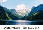 fantastic morning on mountain... | Shutterstock . vector #1011637516