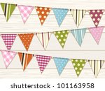 Bunting With Bright Patterns O...