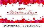 valentine's day vector... | Shutterstock .eps vector #1011639712