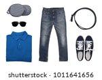 isolated top view of men... | Shutterstock . vector #1011641656