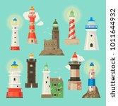 lighthouse vector beacon... | Shutterstock .eps vector #1011644932