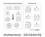 two visual math puzzles and...   Shutterstock . vector #1011646156