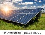 solar panels  photovoltaic  ... | Shutterstock . vector #1011648772
