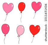 cute hand drawn vector balloons ... | Shutterstock .eps vector #1011651436