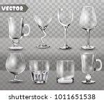set of transparent glasses... | Shutterstock .eps vector #1011651538