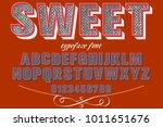 vintage font typeface... | Shutterstock .eps vector #1011651676