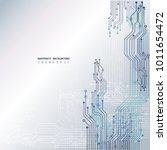 circuit board  technology... | Shutterstock .eps vector #1011654472